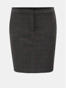 Tmavosivá kockovaná sukňa s vreckami Selected Femme Musu