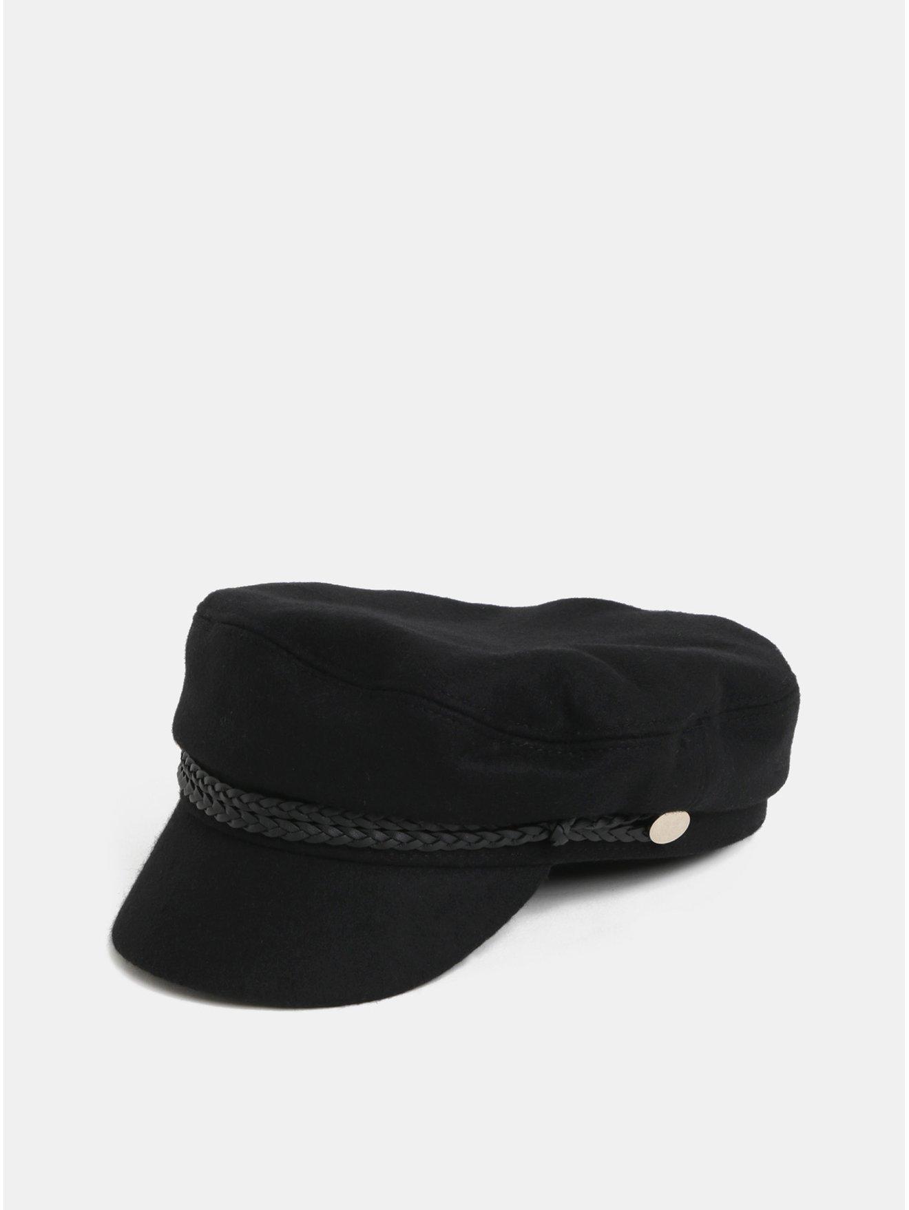 21ad8ba49 Čierna baretka so šiltom a prímesou vlny Pieces | Moda.sk