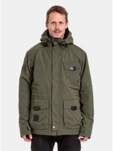 Kaki pánska nepremokavá zimná bunda s podšívkou z umelej kožušinky NUGGET Arsenal