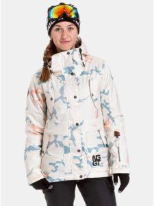 Modro–krémová dámska nepremokavá snowboardová bunda NUGGET Anja