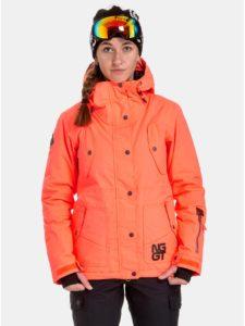 Neónovo–oranžová dámska nepremokavá snowboardová bunda NUGGET Anja