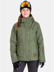 Zelená dámska nepremokavá snowboardová bunda NUGGET Anja