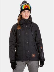 Čierna dámska nepremokavá snowboardová bunda NUGGET