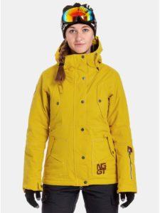 Žltá dámska nepremokavá snowboardová bunda NUGGET Anja f1e9b79385a