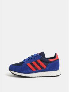 Červeno–modré pánske tenisky so semišovými detailmi adidas Originals Forest Grove