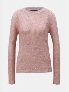 Svetloružový sveter s flitrami VERO MODA Leilani