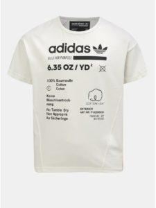 Krémové detské tričko s potlačou adidas Originals