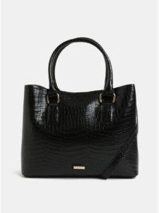 Čierna kabelka s krokodílím vzorom ALDO Frenarien