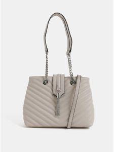 Béžová kabelka so striebornými detailmi ALDO Maewiel