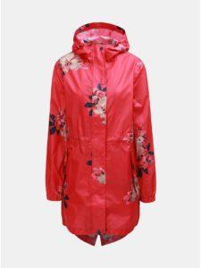 Červená dámska kvetovaná pláštenka Tom Joule