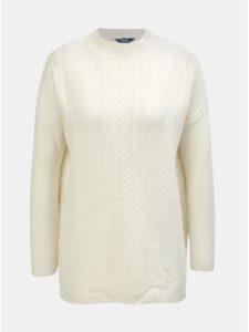 Krémový dámsky oversize sveter s prímesou vlny Tom Joule