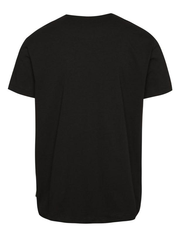 Čierne pánske tričko s krátkym rukávom Pietro Filipi