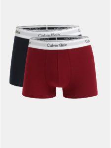 Balenie dvoch boxeriek v červenej a tmavomodrej farbe Calvin Klein Underwear