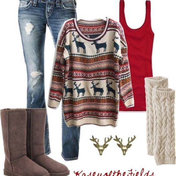 Ako na vkusné outfity s vianočným svetrom?
