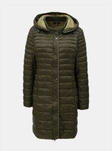 Kaki prešívaný kabát s kapucňou Yest