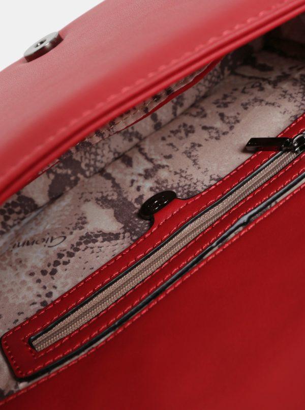 Čiervena prešívaná kabelka Gionni