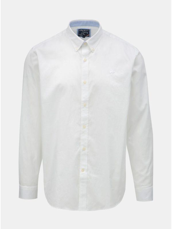 Biela košeľa s dlhým rukávom Raging Bull