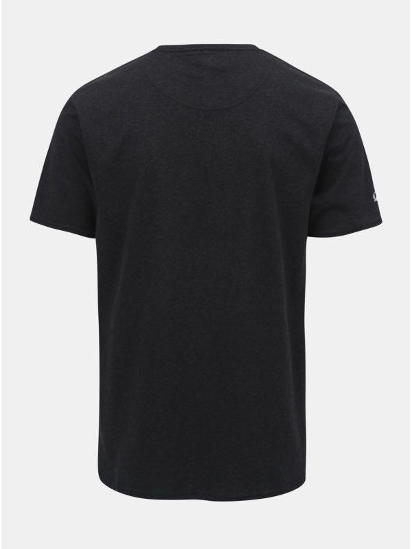 Čierne tričko s potlačou Raging Bull