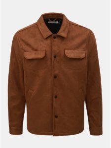 Hnedá bunda v semišovej úprave Farah Finley
