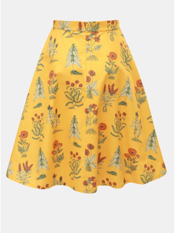 Oranžová sukňa s motívom kvetov annanemone