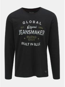 Čierne tričko s nápisom Blend