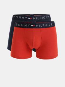Balenie dvoch boxeriek v červenej a modrej farbe Tommy Hilfiger