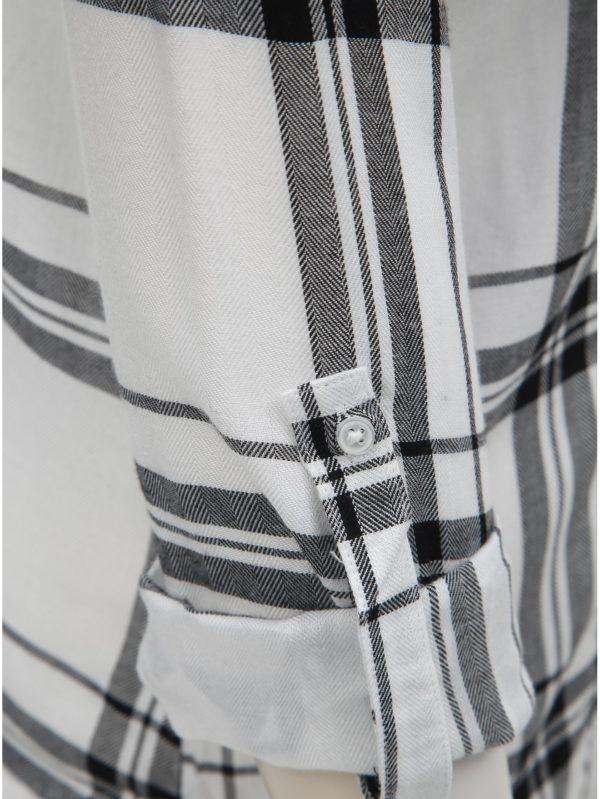724bc0d0703e Čierno–biela kockovaná košeľa s náprsnými vreckami TALLY WEiJL
