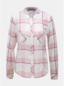 Bielo–ružová kockovaná košeľa s náprsnými vreckami TALLY WEiJL