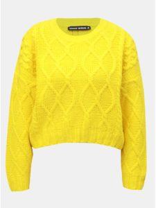 Žltý sveter s dlhým rukávom TALLY WEiJL
