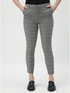 Sivé kockované skrátené nohavice TALLY WEiJL