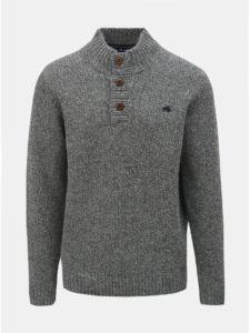 Sivý melírovaný vlnený sveter Raging Bull