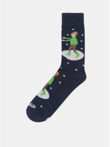Tmavomodré unisex ponožky Fusakle Krasokorculiar