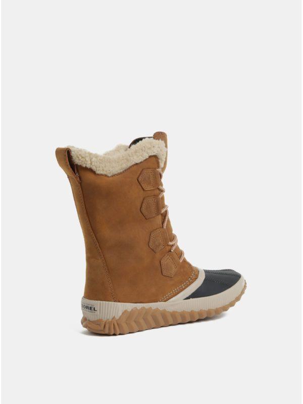 Hnedá dámske semišové nepremokavé zimné topánky SOREL Newbie  8216dd68ae7