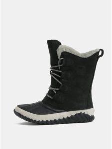 Čierne dámske semišové nepremokavé zimné topánky SOREL Newbie