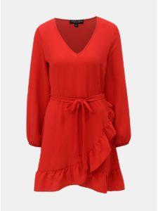 a0781cbc4b57 Červené šaty s volánom Dorothy Perkins