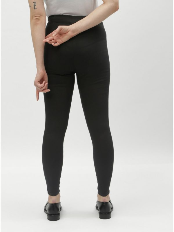 Čierne jeggings s vysokým pásom Miss Selfridge