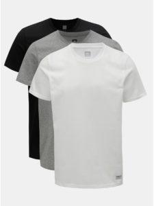 Balenie troch pánskych basic tričiek v bielej 0add47dba7f