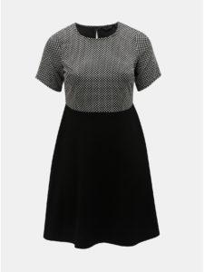 Čierne šaty s bodkovanou vrchnou časťou Dorothy Perkins Curve