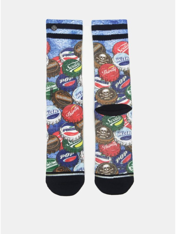 Zeleno–modré pánske ponožky s motívom vrchnákov XPOOOS
