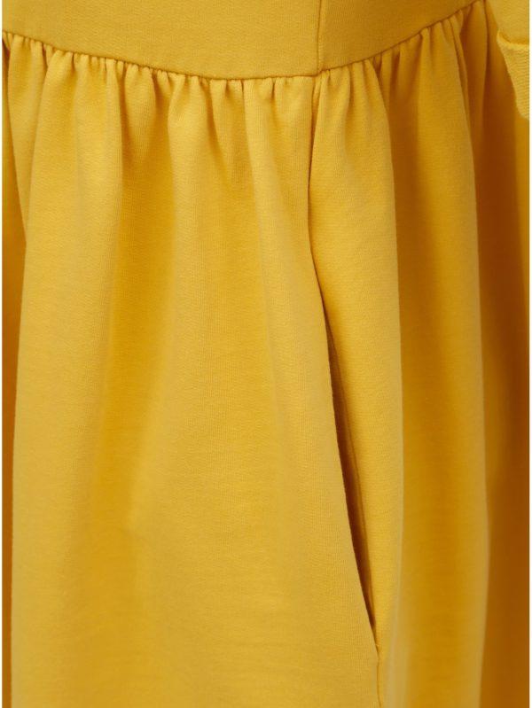Žlté voľné šaty s vreckami ZOOT