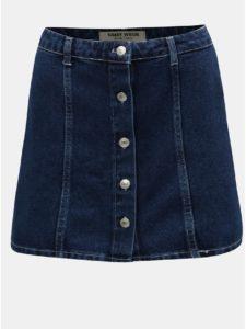 Modrá rifľová sukňa s gombíkmi TALLY WEiJL