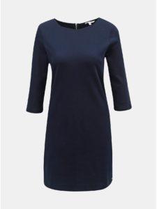 Tmavomodré šaty s 3/4 rukávom Tom Tailor Denim