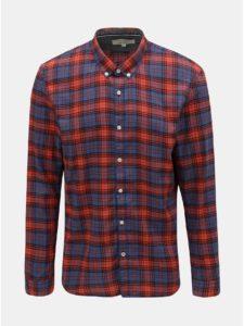 Modro–červená pánska kockovaná košeľa Tom Tailor Denim