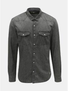 Sivá pánska rifľová košeľa Tom Tailor Denim