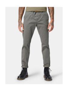 Sivé pánske slim chino nohavice Tom Tailor Denim