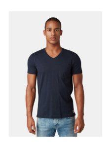 Tmavomodré pánske tričko s náprsným vreckom Tom Tailor Denim