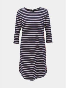 Bielo–modré pruhované šaty s 3/4 rukávom Tom Tailor Denim