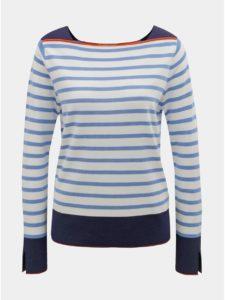 Modro–biely pruhovaný tenký sveter Tom Tailor Denim