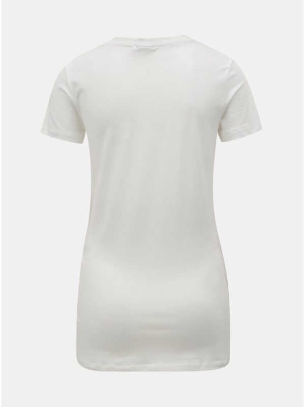 Krémové tehotenské tričko s výšivkou Mama.licious Marie