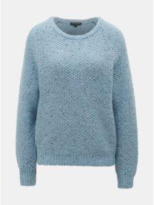Svetlomodrý melírovaný sveter s prímesou vlny Selected Femme Mallorca